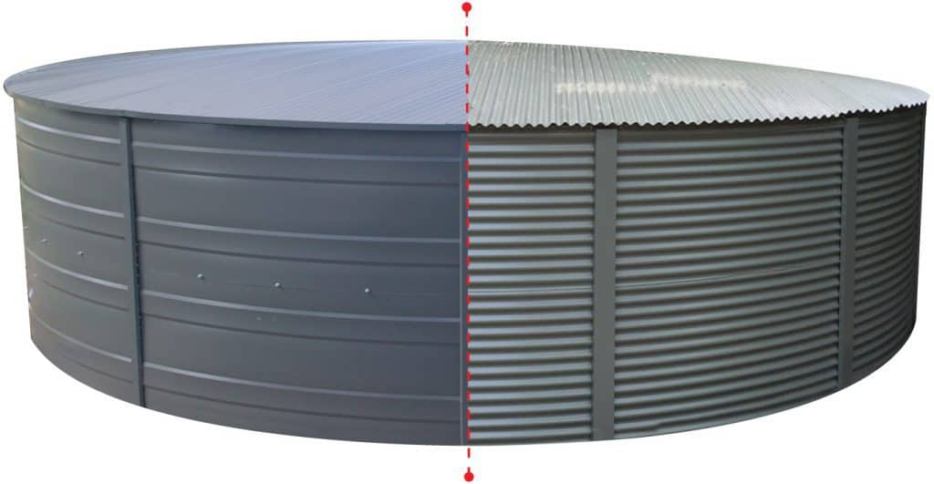 corrugated and Streamline water tank