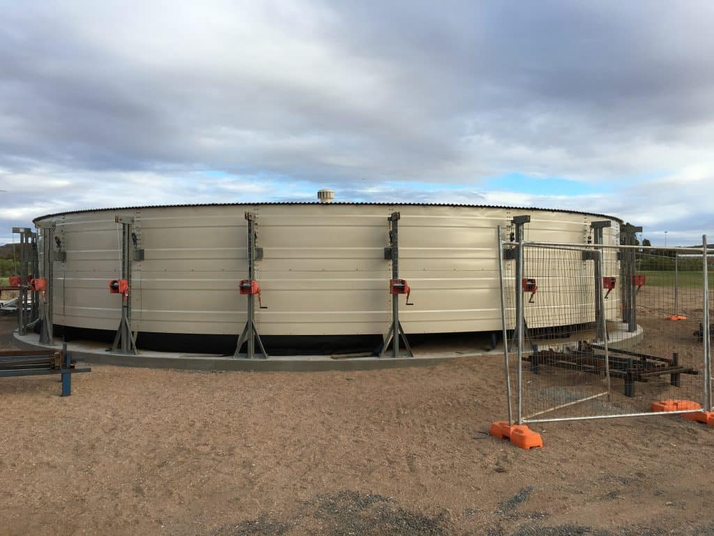 Water tank installation - second ring