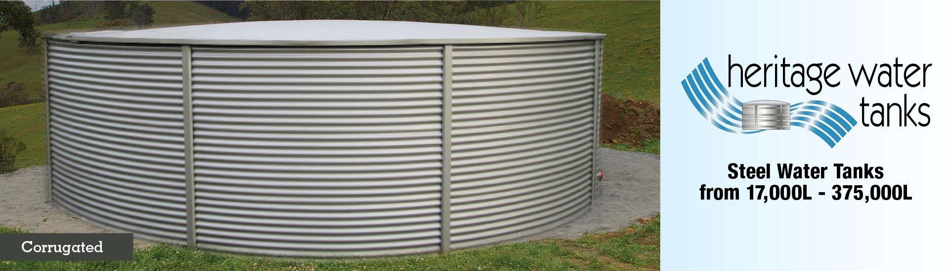 Corrugated tank slider